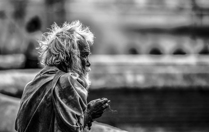 Nepal Kathmandu Alter Mann